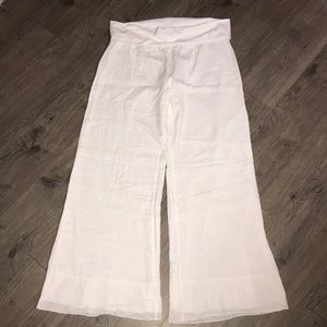 Venus, White, Swim Cover Up Pants, NWOT